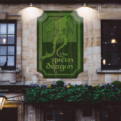 Front Lit Signage for a Pub