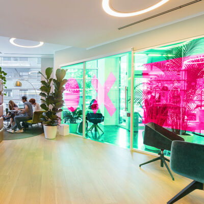 Window Colourising in an office with See Through Window Graphics