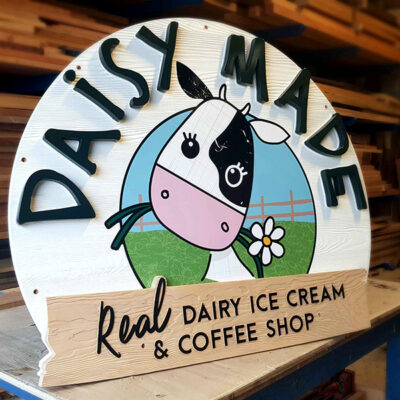 Bespoke Wooden Sign for a coffee shop