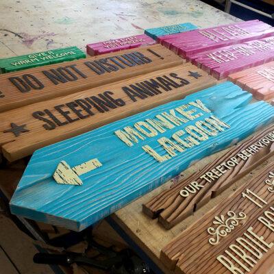 Wooden Wayfinding Signage