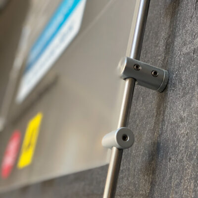 Rod, cable and stand off - Directional Signage